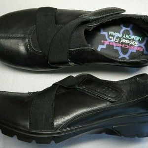 Skechers Black Relaxed Fit Memory Foam Shoes